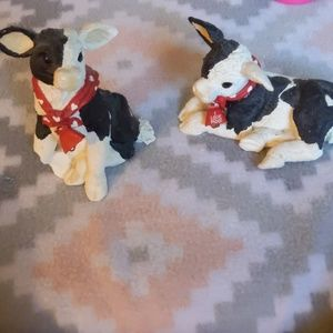 Accents - Set of two glass cows